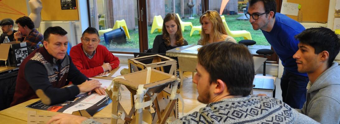 TSO leerlingen en ontwerpstudenten werken samen naar finaal concept