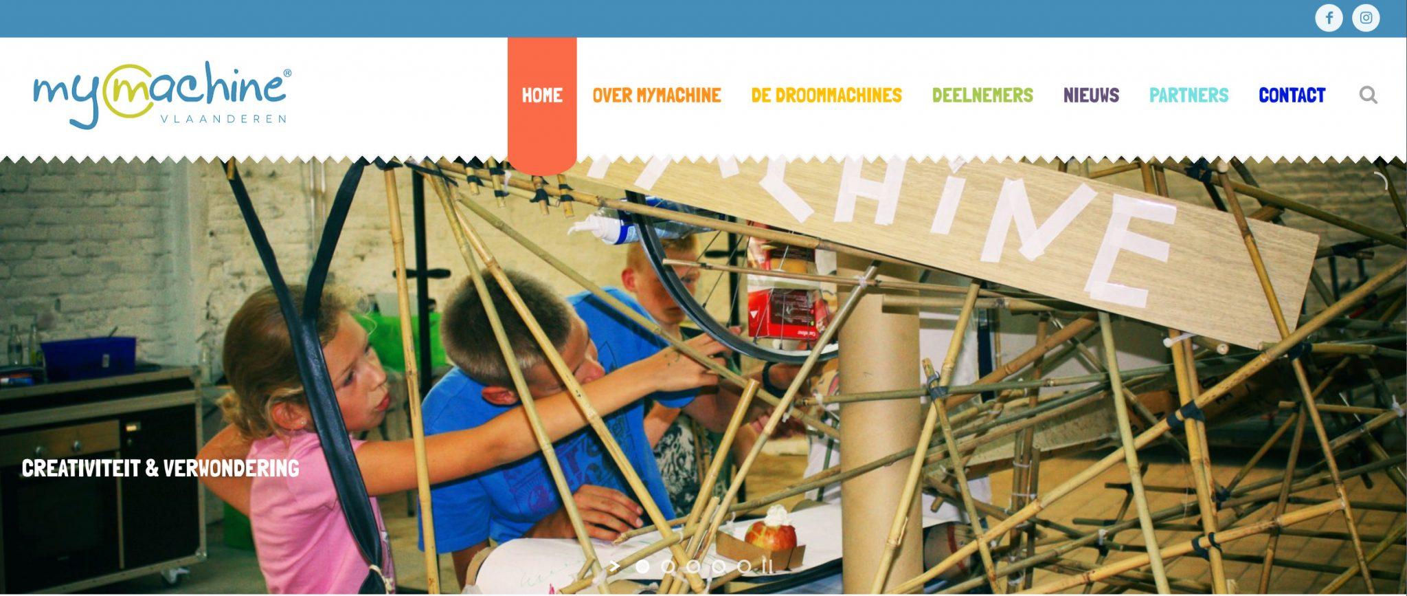 MyMachine website in een nieuw kleedje