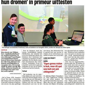 Groenheuvel-uitvinders testen hun game in hogeschool Howest – The Level